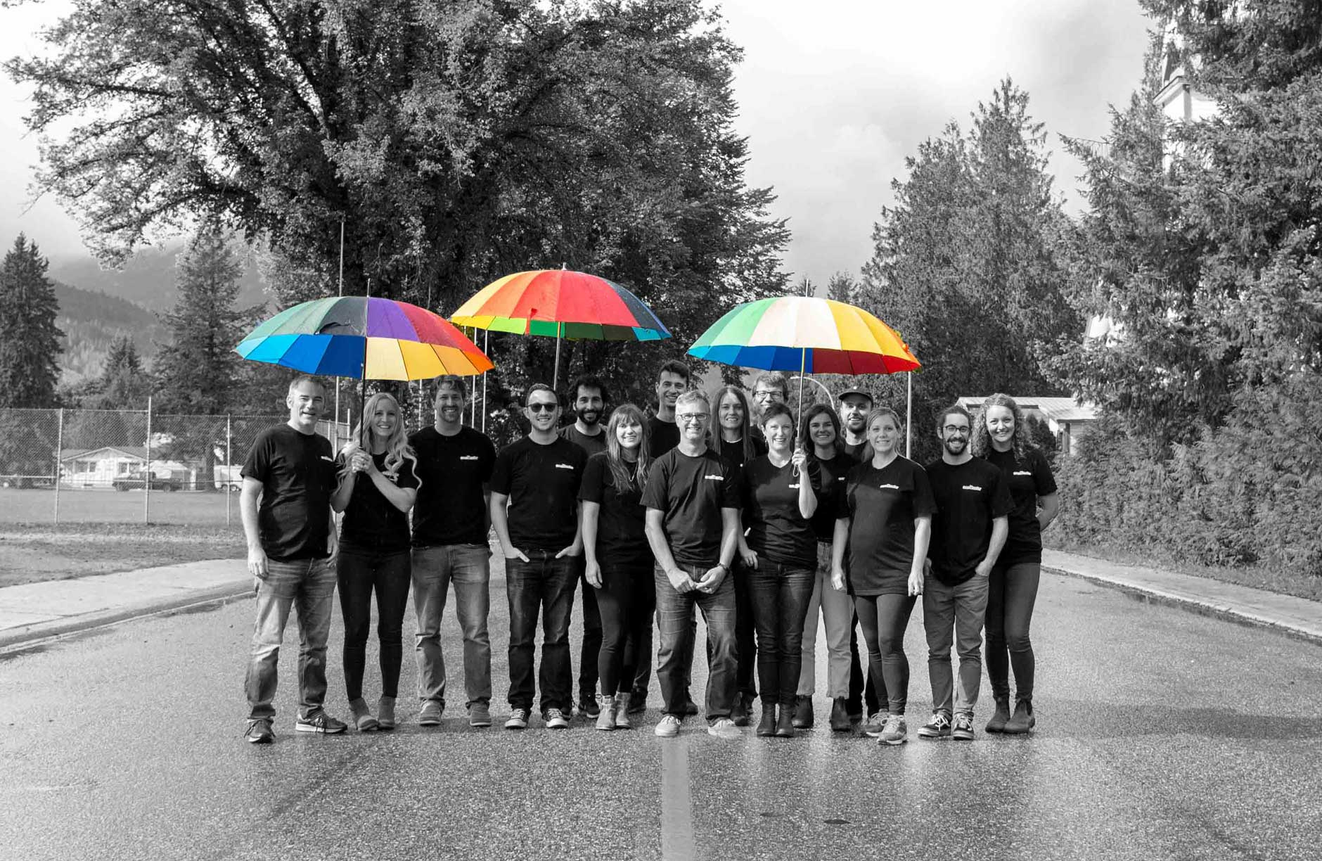 The staff at Cronometer in Revelstoke, BC